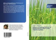 Bookcover of Effects of Sowing Method on Performance of Rice under Tidal Ecosystem