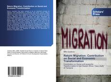 Bookcover of Return Migration: Contribution on Social and Economic Transformation