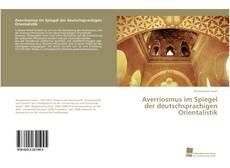 Buchcover von Averriosmus im Spiegel der deutschsprachigen Orientalistik