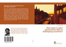 Bookcover of How open is open government data in developing countries?