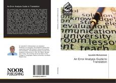 Bookcover of An Error Analysis Guide to Translation