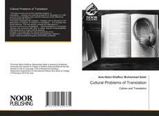 Cultural Problems of Translation kitap kapağı