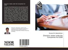 Bookcover of Directors' duties under the Companies Act 2006