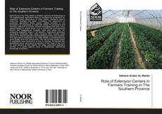 Couverture de Role of Extension Centers in Farmers Training in The Southern Province