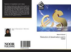 Bookcover of Reduction of desalination cost in Qatar