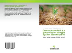 Buchcover von Greenhouse effect is a global way of struggle against desertification
