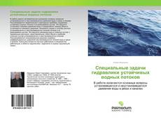 Специальные задачи гидравлики устойчивых водных потоков kitap kapağı