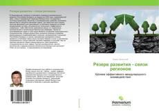 Резерв развития - связи регионов kitap kapağı