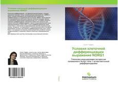 Обложка Условия клеточной дифференциации выражение NDRG1