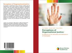 Bookcover of Perceptions of Organizational Justice: