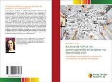 Capa do livro de Análise de falhas no gerenciamento de projetos na construção civil