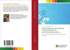 Buchcover von Capacidade de absorção de conhecimentos na administração pública