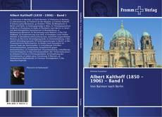 Capa do livro de Albert Kalthoff (1850 -1906) - Band I