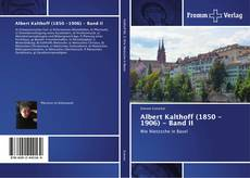 Bookcover of Albert Kalthoff (1850 -1906) - Band II