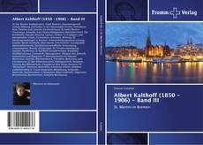 Buchcover von Albert Kalthoff (1850 -1906) - Band III