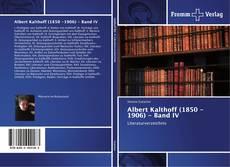 Capa do livro de Albert Kalthoff (1850 -1906) - Band IV