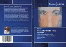 Bookcover of Mehr als Worte singt ein Lied