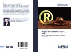 Pojęcie zakwestionowanych praw kitap kapağı