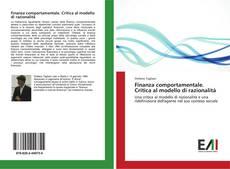 Capa do livro de Finanza comportamentale. Critica al modello di razionalità