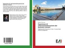 Portada del libro de Esperienze di internazionalizzazione dei business iraniani