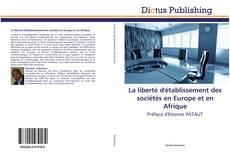 La liberté d'établissement des sociétés en Europe et en Afrique kitap kapağı