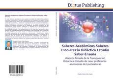 Saberes Académicos-Saberes Escolares:la Didáctica Estudio Saber-Enseña kitap kapağı