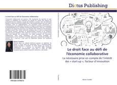 Bookcover of Le droit face au défi de l'économie collaborative