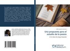 Una propuesta para el estudio de la poesía kitap kapağı