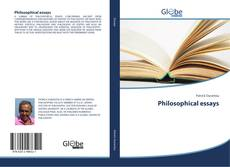 Bookcover of Philosophical essays