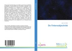 Couverture de De l'intersubjectivité