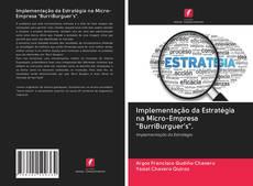 """Capa do livro de Implementação da Estratégia na Micro-Empresa """"BurriBurguer's""""."""