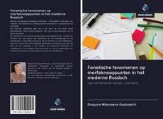 Capa do livro de Fonetische fenomenen op morfeknooppunten in het moderne Russisch