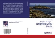 Bookcover of Climate Change - Environmental Human Microbiome Metabolic Disorder