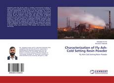 Bookcover of Characterization of Fly Ash-Cold Setting Resin Powder