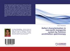Bookcover of Defect characterization in rare-earth manganite system by Positron annihilation spectroscopy