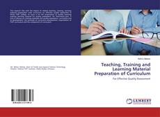 Capa do livro de Teaching, Training and Learning Material Preparation of Curriculum
