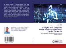 Couverture de Analysis and Design of Single Phase Bi-Directional Power Converter