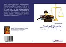 Bookcover of Marriage in Romanian Private International Law