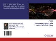 Bookcover of Theory of probability and mathematical statistics