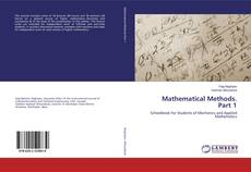 Bookcover of Mathematical Methods. Part 1