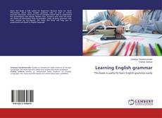 Bookcover of Learning English grammar
