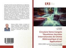 """Bookcover of Circulaire 5ème Congrès """"Deuxièmes Journées Internationales de Chimie Hétérocyclique et ses Applications"""""""