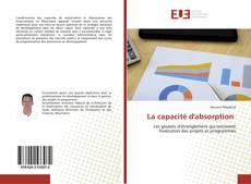 Bookcover of La capacité d'absorption