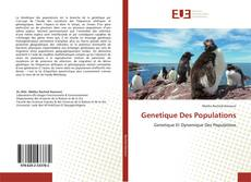 Copertina di Genetique Des Populations
