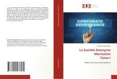 Capa do livro de La Société Anonyme Marocaine Tome I