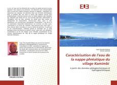 Capa do livro de Caractérisation de l'eau de la nappe phréatique du village Kamimbi
