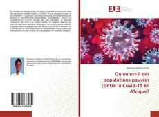 Bookcover of Qu'en est-il des populations pauvres contre la Covid-19 en Afrique?