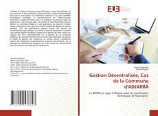 Capa do livro de Gestion Décentralisée, Cas de la Commune d'ADJARRA