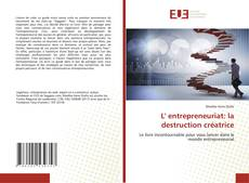 Capa do livro de L' entrepreneuriat: la destruction créatrice