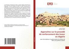 Capa do livro de Approches sur le procédé de renforcement des ksour en Algérie